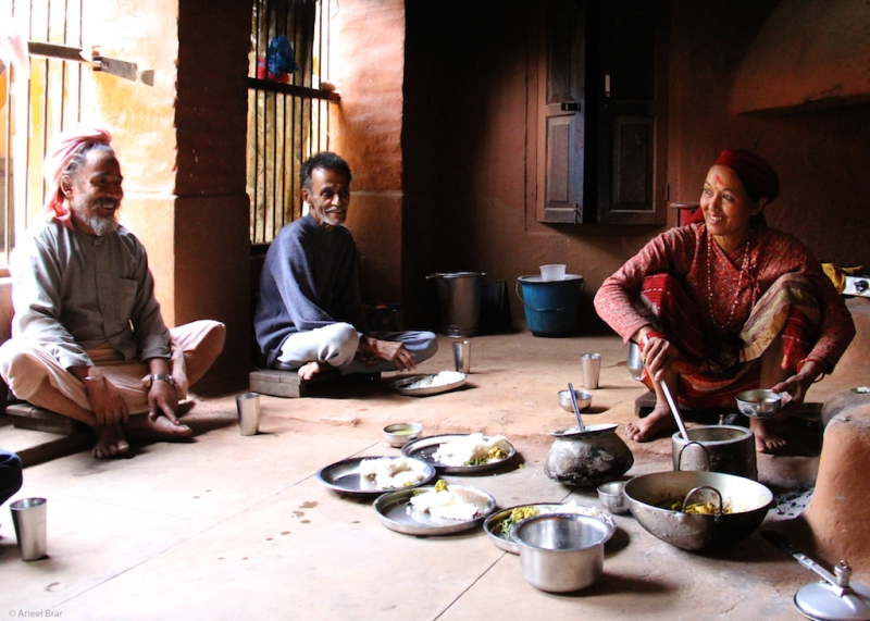 Nepali Langar prepared by Rojin's mom